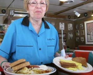 Waitress at Connies