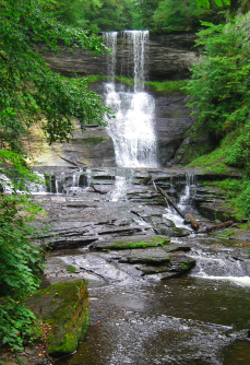 The lower falls at Carpenter Falls State Park