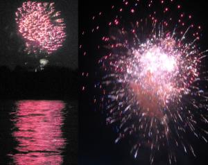 Lake view fireworks