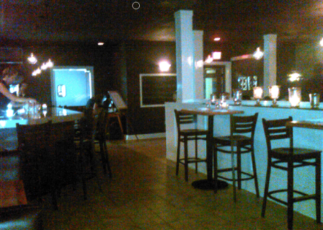 View from the bar area of Moro's Table