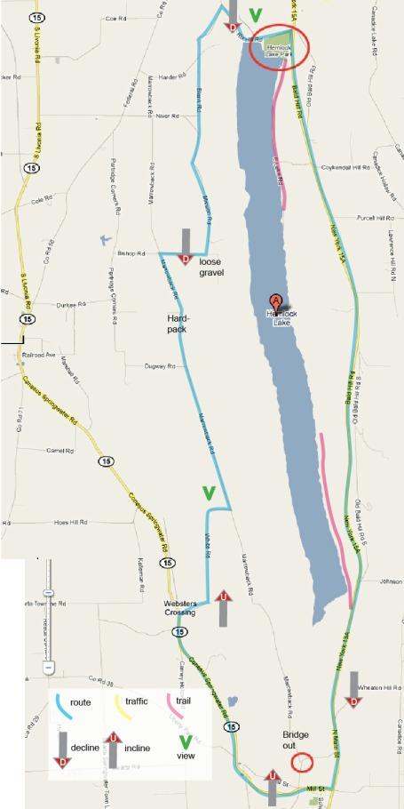 2010 Bike route