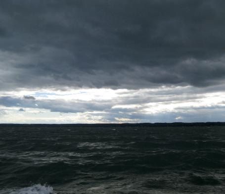 Hurricane Earl meets the lake