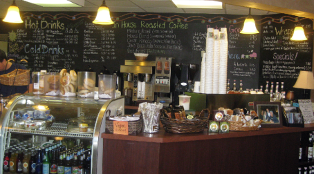 View of the varied menu, Creekside cafe