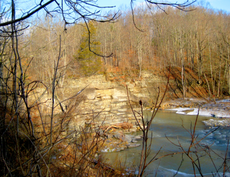 View of Sonyea State Park from across the Creek