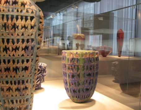 The Glass Museum features ancient glass artifacts as well as modern art
