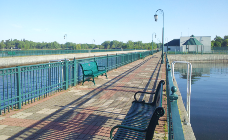 The view from the end of the pier at Emerson Park