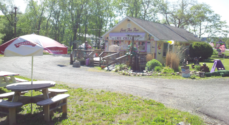 A fun ice cream stand at the southwest end of the lake
