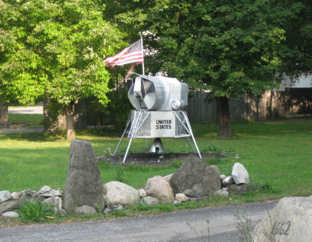 Where else where you see a lunar lander but the East Lake Rd of Otisco!