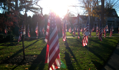 Veteran's Day Display, Skaneateles New York